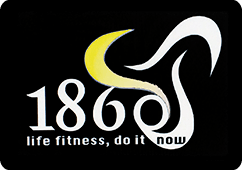Logo 1860 LIfe fitness, do it now